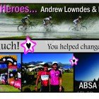 Our heroes, Andrew Lowndes and Nick Theron finish the ABSA Cape Epic for Sabrina Love Foundation!