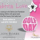 Sabrina Love Lion Roars Golf Day 19th October!
