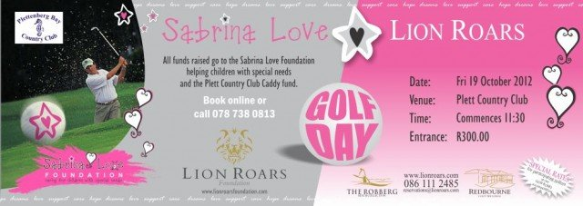 Sabrina Love Lion Roars Golf Day 19th October! 2