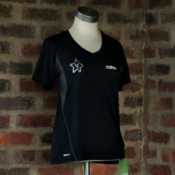 Runnig t-shirt Black/Silver Ladies 1