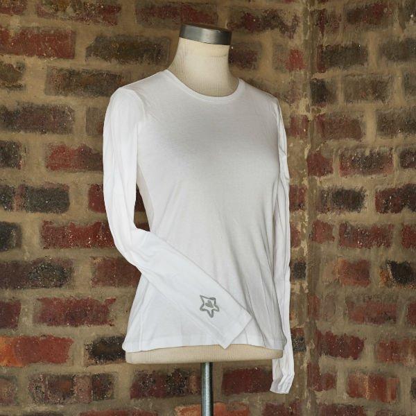 Longsleeve White t-shirt Ladies 1