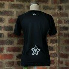 Runnig t-shirt Black/Silver Ladies 2