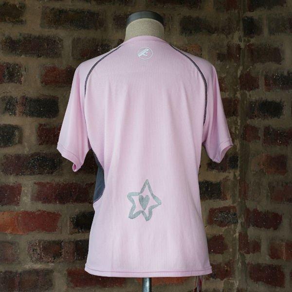 Runnig t-shirt Pink/Silver Ladies 1