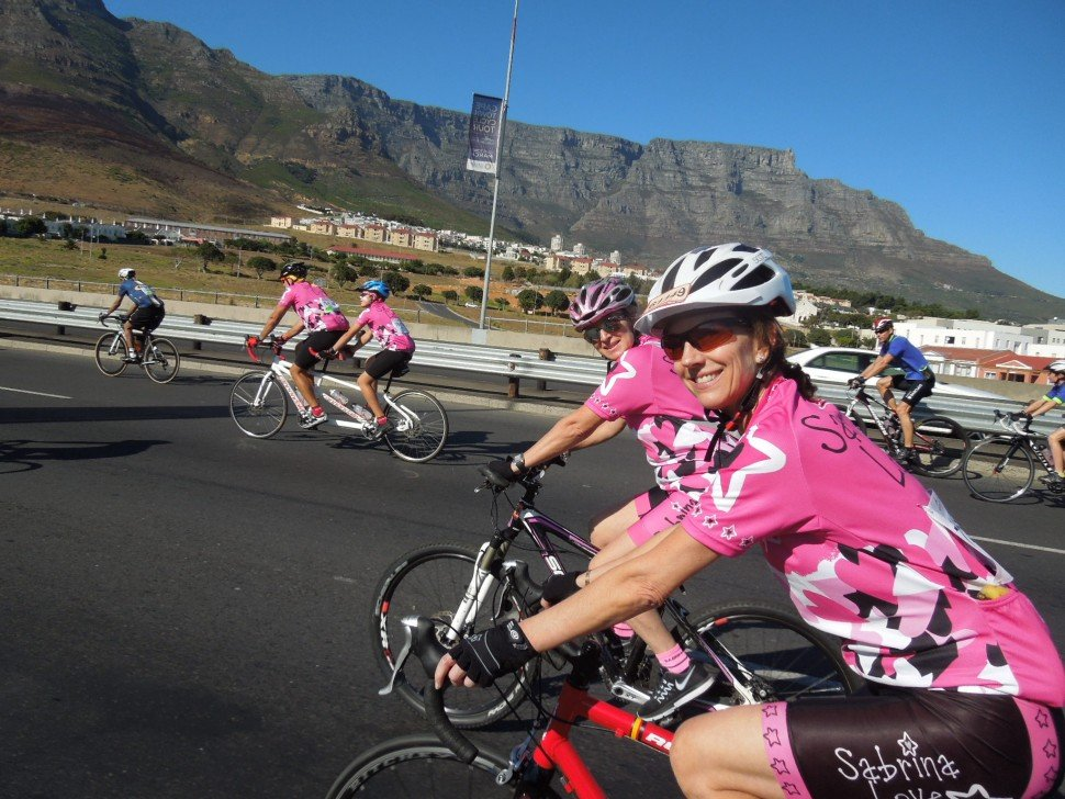 Suzy Riding for her Sabrina Foundation with dear friend Di