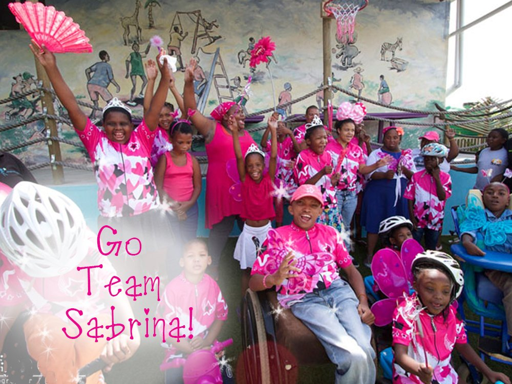 Cheer from our Sabrina Love Children for the 2016 Cape Town Cycle Tour riders!