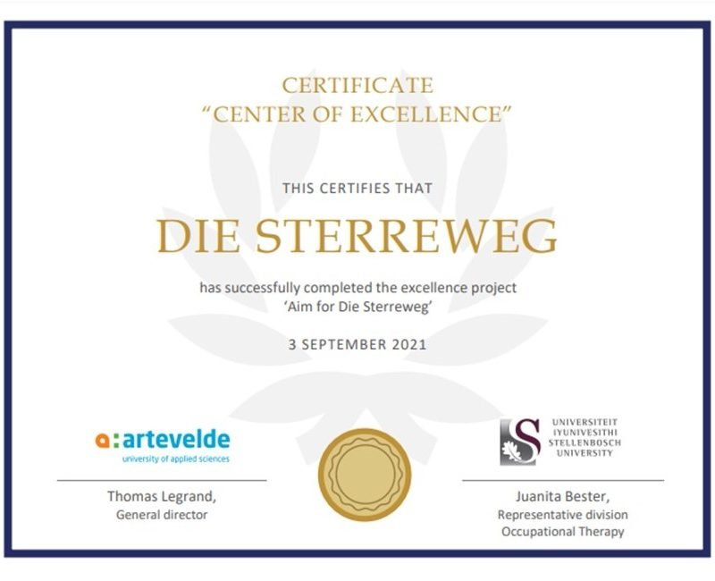 """Sabrina Love recognized as a """"Centre of Excellence"""" by Belgium University"""